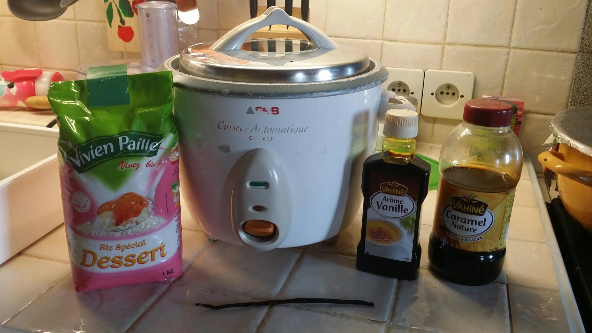 riz au lait a la vanille au rice cooker la cuisine d 39 une pin up. Black Bedroom Furniture Sets. Home Design Ideas