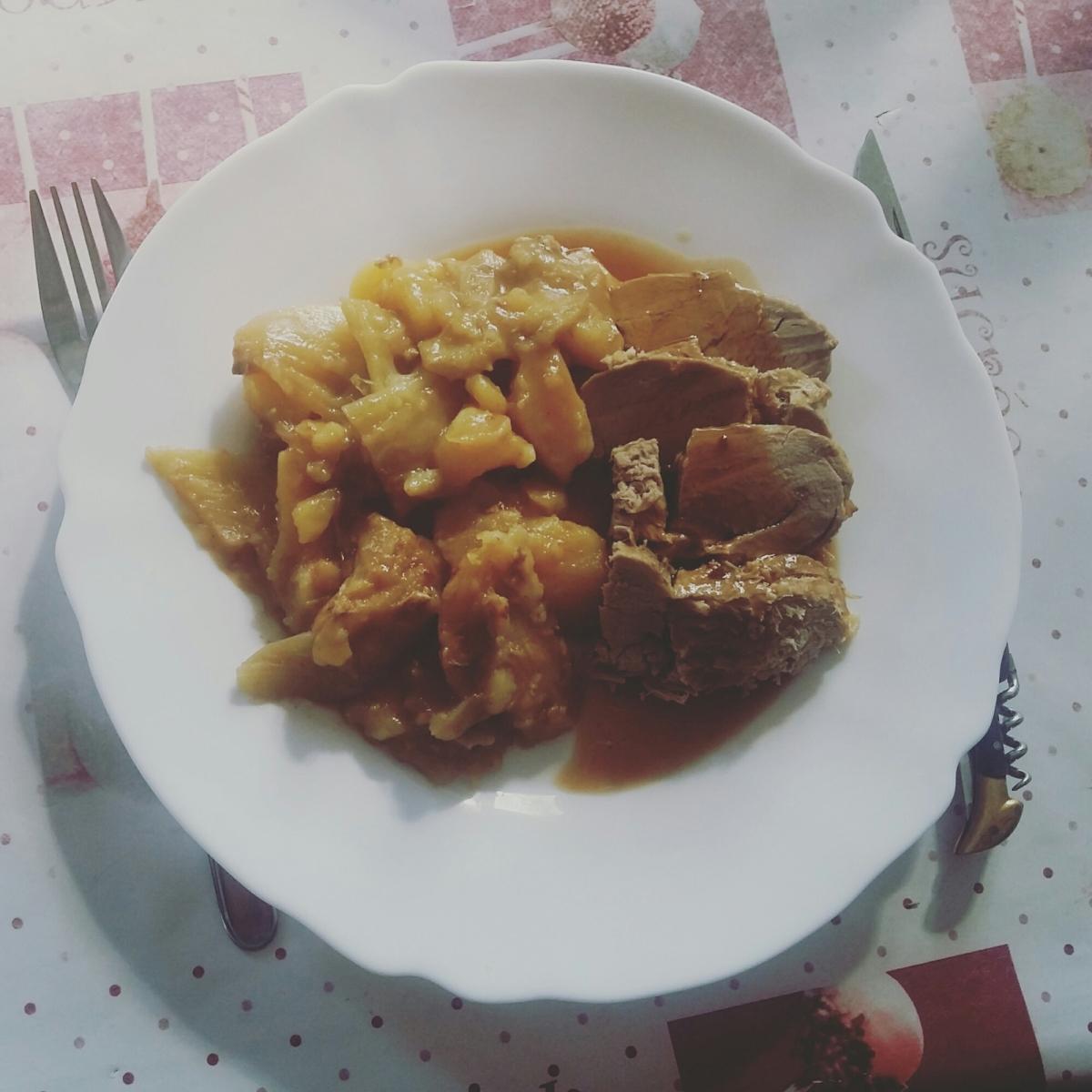 Filet mignon aux pommes de terre et fenouils