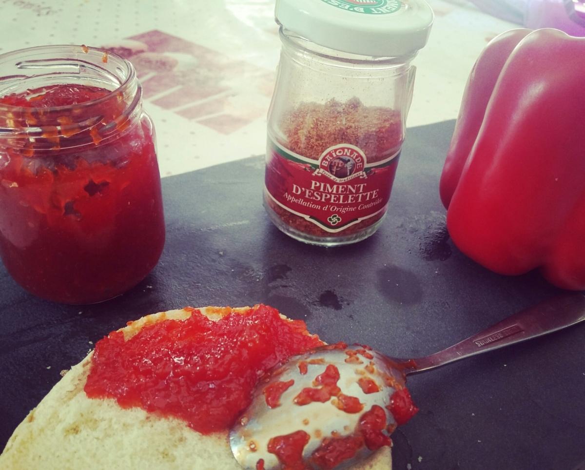 Confiture de poivron rouge au piment d'espelette