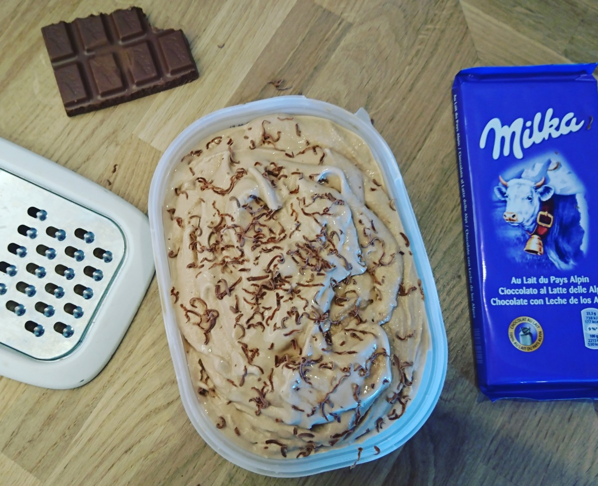 Glace au chocolat Milka